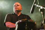 Óscar Ybarra, trompetista y percusionista de Los Coronas, Festival Rock & Roll Explosion, Haro. 2006