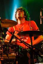"""Antonio Álvarez """"Pax"""", baterista sustituto en Los Coronas, Festival Rock & Roll Explosion, Haro. 2006"""