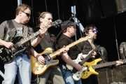 "Eric Bloom - guitarrista y cantante-, Allen Lanier -guitarrista-, Donald Brian ""Buck Dharma"" Roeser -guitarrista- y Richie Castellano -bajista- de Blue Öyster Cult (14/07/2006)"
