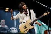Chrissie Hynde -cantante y guitarrista- y Martin Chambers -baterista- de Pretenders, Bilbao BBK Live. 2006