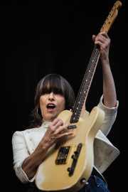 Chrissie Hynde, guitarrista y cantante de Pretenders, Bilbao BBK Live. 2006