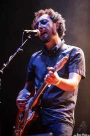 "Juan Rodríguez ""Jota"", cantante y guitarrista de Los Planetas, Bilbao BBK Live, Bilbao. 2006"