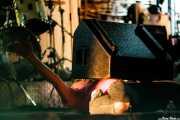 Robertez, cantante y armonicista de  Motociclón (Grande Rock Festival, Jaraiz de la Vera, 2006)