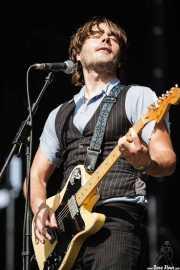 Serge Bielanko, guitarrista, cantante y armonicista de Marah, Azkena Rock Festival, 2006