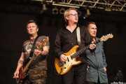 Dave Allen -bajo-, Andy Gill -guitarra- y Jon King -voz- de Gang Of Four (Azkena Rock Festival, Vitoria-Gasteiz, 2006)