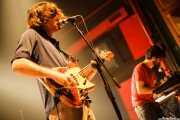 Ekhi Lopetegui -voz y bajo- y Unai Lazcano -teclado- de Delorean, BilboLoop, Bilbao. 2006