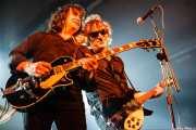 """Brian Mire -guitarra- y Evan """"Muck"""" Shore -voz y guitarra- de Muck & The Mires, Santana 27, Bilbao. 2006"""