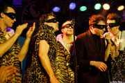Jason Smay -batería-, Eddie Angel -guitarra-, Todd Bradley -bajo-, Greg Townson -cantante invitado- y Johnny Rabb -cantante- de The Neanderthals (Freakland Festival, Ponferrada, 2007)