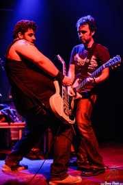 """Pablo """"Hellacopter"""" y Zebu """"Porco"""", guitarristas de Porco Bravo, Kafe Antzokia, 2007"""