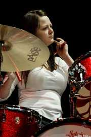 Meg White, baterista de The White Stripes, Primavera Sound Festival, 2007