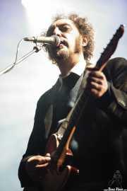 """Juan Rodríguez """"Jota"""", cantante y guitarrista de Los Planetas, Primavera Sound Festival, Barcelona. 2007"""