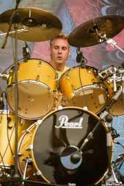 Brann Dailor, baterista y cantante de Mastodon, Bilbao BBK Live, Bilbao. 2007