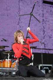 Dennis Lyxzén, cantante de The (International) Noise Conspiracy, Bilbao BBK Live, Bilbao. 2007
