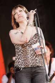 Rachel Nagy, cantante de The Detroit Cobras (Siren Festival, Nueva York, 2007)