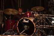 Adrián Ceballos, baterista de RIP KC (Grande Rock Festival, Jaraiz de la Vera, 2007)