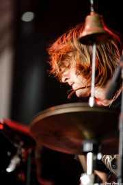 Tyson Vogel, baterista, cantante y guitarrista de Two Gallants, Azkena Rock Festival, Vitoria-Gasteiz. 2007