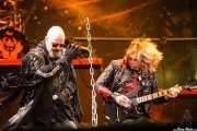 Rob Halford -voz- y Glenn Tipton -guitarra- de Judas Priest, Kobetasonk, Bilbao. 2008