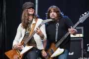 Dave Rude -guitarra- y Brian Wheat -bajo- de Tesla (Kobetasonk, Bilbao, 2008)