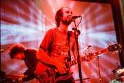 Juan Escribano -guitarra- y Willy Vanilli -teclista, programador, percusionista, batería- de We are standard, Bilbao BBK Live, Bilbao. 2008