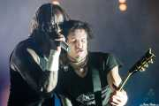 Maxim Reality -cantante- y Rob Holliday -guitarrista-, de The Prodigy, Bilbao BBK Live, 2008
