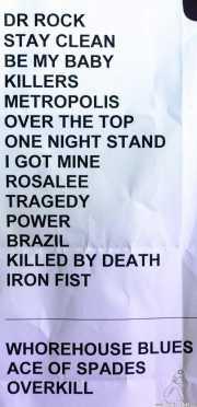 Setlist de Motörhead (Sala Rockstar, Barakaldo, 2008)