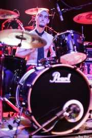 Juan Marco, baterista de The Diesel Dogs (Kafe Antzokia, Bilbao, 2008)