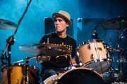 Javi Caballero, baterista de Jukebox Racket (Kafe Antzokia, Bilbao, 2008)