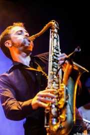 Mihail Goldfingers, saxofonista y flautista de The Cherry Boppers (Kafe Antzokia, Bilbao, 2008)