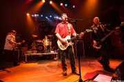 Ian McCallum -guitarrista-, Steve Grantley -baterista-, Jake Burns -guitarrista y cantante- y Ali McMordie-bajista- de Stiff Little Fingers, Kafe Antzokia. 2009