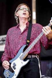 Jim Dickson, bajista de The New Christs, Azkena Rock Festival, 2009