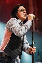 Mike Farris, cantante y guitarrista de Mike Farris & the Roseland Rhythm Revue, Azkena Rock Festival, Vitoria-Gasteiz. 2009