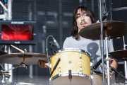 "David ""El Índio"", baterista de Vetusta Morla, Bilbao BBK Live, 2009"