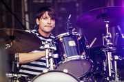 Ed Lay, baterista de Editors (Bilbao BBK Live, Bilbao, 2009)