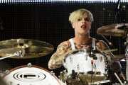 Steve Forrest, baterista de Placebo, Bilbao BBK Live. 2009