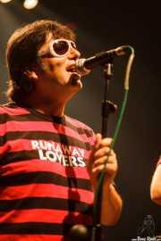 Juanjo Ibarra, cantante de Santiago Delgado y los Runaway Lovers, Kafe Antzokia, Bilbao. 2009