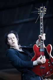 Jim Jones, cantante y guitarrista de The Jim Jones Revue (Azkena Rock Festival, Vitoria-Gasteiz, 2010)
