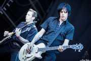 Rupert Orton -guitarra- y Gavin Jay -bajo- de The Jim Jones Revue (Azkena Rock Festival, Vitoria-Gasteiz, 2010)