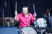 Nick Jones, baterista de The Jim Jones Revue (Azkena Rock Festival, Vitoria-Gasteiz, 2010)