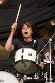 Mauro Magellan, baterista de Dan Baird and Homemade Sin (Azkena Rock Festival, Vitoria-Gasteiz, 2010)