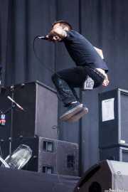 Tim McIlrath, cantante y guitarrista de Rise Against, Bilbao BBK Live, Bilbao. 2010