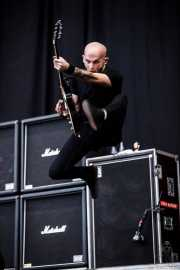 Zach Blair, guitarrista de Rise Against, Bilbao BBK Live, Bilbao. 2010
