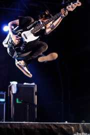 Chris #2, bajista y cantante de Anti-Flag, Bilbao BBK Live, Bilbao. 2010