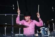 Fredrik Sandsten, baterista de The Soundtrack of Our Lives (Bilbao BBK Live, Bilbao, 2010)