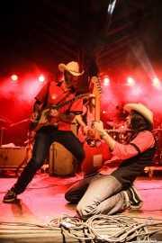 David Krahe -guitarra- y Fernando Pardo -guitarra- de Los Coronas, Turborock, Sarón. 2010