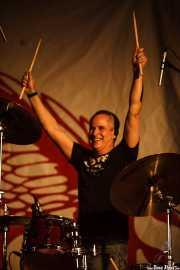 Steve Bruce, baterista de Cock Sparrer (Landako Gunea, Durango, 2010)