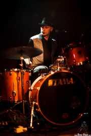 Blas Picón, baterista de The Nu Niles, Sala Azkena, Bilbao. 2010