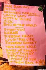 Setlist de Jukebox Racket (Kafe Antzokia, Bilbao, 2011)
