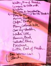 Setlist de Mark Olson, Cotton Club, Bilbao. 2011