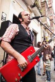 """Antonio """"Greasy"""", cantante y guitarrista de Greasy & Grizzly (Biribay Jazz Club, Logroño, 2011)"""