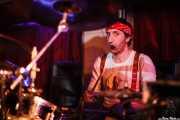 Josu Korkostegi, baterista de Toni Metralla y los Covernícolas, Sala Edaska, Barakaldo. 2011